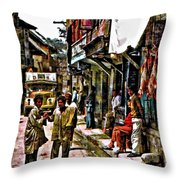 Kathmandu  Throw Pillow