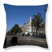 Keizersgracht Amsterdam Throw Pillow