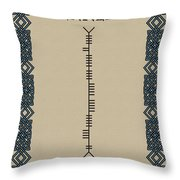 Kennedy Written In Ogham Throw Pillow