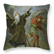 King Lear, 19th Century Throw Pillow