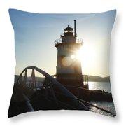 Kingsland Point Lighthouse Throw Pillow