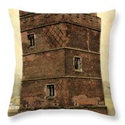 Kirby Muxloe Castle  Throw Pillow