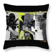 3 Kvoa Tv News Cinematographers Frank Sharkey Dave Sonderegger Jackie Sharkey Tucson Az Collage 2011 Throw Pillow