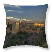 La Alhambra Granada Spain Throw Pillow