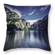 Lake Braies And Dolomite Alps, Northern Throw Pillow