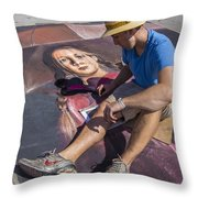 Lake Worth Street Painting Festival Throw Pillow