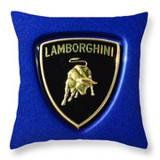 Lamborghini Emblem Throw Pillow