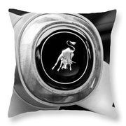 Lamborghini Steering Wheel Emblem Throw Pillow