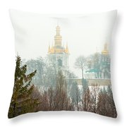Lavra Monastery In Kiev Throw Pillow