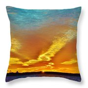 3 Layer Sunset Throw Pillow