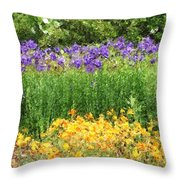3-layered Garden Throw Pillow