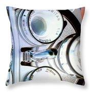 3 Lenses In Negative Throw Pillow