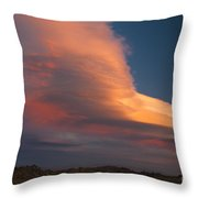 Lenticular Clouds Over Alabama Hills Throw Pillow