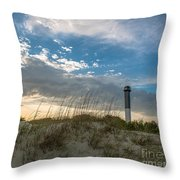 Sc Lighthouse View Throw Pillow