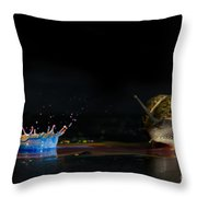 Liquid Coronet  Throw Pillow