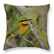 Little Bee-eater Throw Pillow