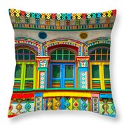 Little India - Singapore Throw Pillow