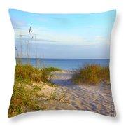 Longboat Key Beach Throw Pillow