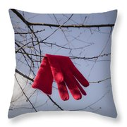 Lost Glove Throw Pillow
