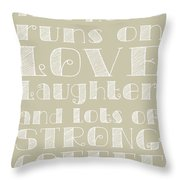 Love And Strong Coffee Poster Throw Pillow by Jaime Friedman