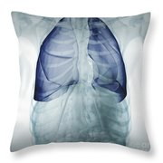 Lungs Within The Chest Throw Pillow