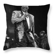 Singer Luther Vandross Throw Pillow
