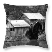Mabry Mill - Blue Ridge Mountains Throw Pillow