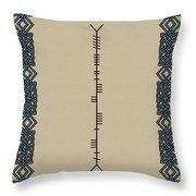 Macateer Written In Ogham Throw Pillow