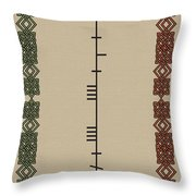 Maccabe Written In Ogham Throw Pillow