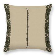 Macdowell Written In Ogham Throw Pillow