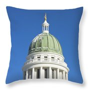 Maine State Capitol Building In Augusta Throw Pillow