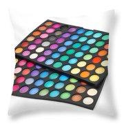 Makeup Color Palette Throw Pillow