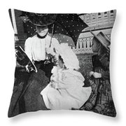 Mamie Eisenhower (1896-1979) Throw Pillow