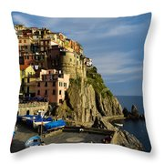 Manarola - Cinque Terre Throw Pillow