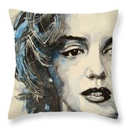 Marilyn Throw Pillow by Paul Lovering
