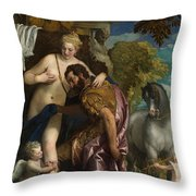 Mars And Venus United By Love Throw Pillow