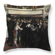 Masked Ball At The Opera Throw Pillow