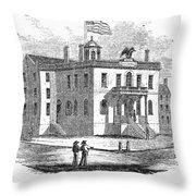 Massachusetts Salem, 1851 Throw Pillow