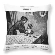 Mcguffey's Reader, 1879 Throw Pillow