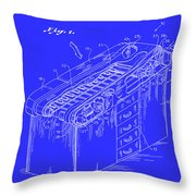 Medical Examining Table Patent 1974 Throw Pillow
