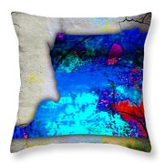 Memphis Map And Skyline Watercolor Throw Pillow