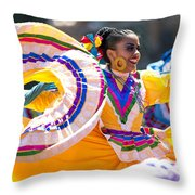 Mexican Folk Dancers Throw Pillow