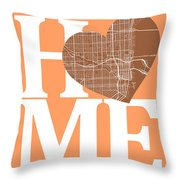 Miami Street Map Home Heart - Miami Florida Road Map In A Heart Throw Pillow