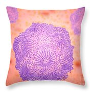 Microscopic View Of Canine Parvovirus Throw Pillow