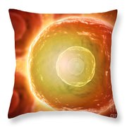 Microscopic View Of Human B-cells Throw Pillow