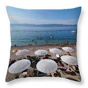 Mikro Kamini Beach Throw Pillow