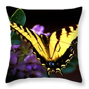 Monarch On Mountain Laurel Throw Pillow