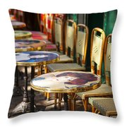 Montmartre Cafe Throw Pillow