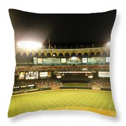 Moon In The Arches Throw Pillow
