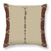 Moran Written In Ogham Throw Pillow